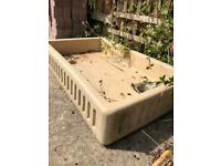 Antique scullery basin large.