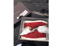 Gucci Rebound Sneakers - Red Suede