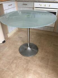 Kitchen table glass top needs to go