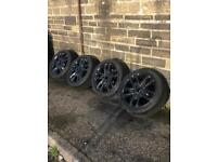 "Genuine 17"" Jaguar Alloy Wheels With Tyres"