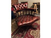 Executives red leather chair