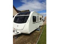 Swift challenger 636 twin axle triple bunk 6 berth caravan 2012