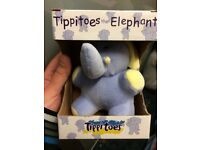 Tippitoes the Elephant Rattle Brand New