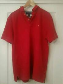 Mens Red Tommy Hilfiger Polo Size XL.