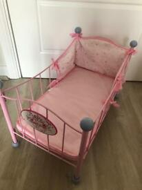 Baby Annabell zapf Creation dolls cot toy