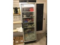 Upright Shop Freezer with glass display door. Very good condition
