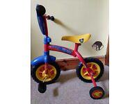 Child's fireman Sam bike