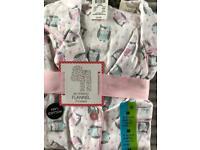 Primark Owl Ivory Pyjama Nightwear Medium