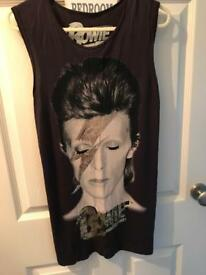 David Bowie long vest top (size 8)