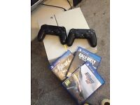 White PS4 with 2joy pads and 3games? need for speed cod and fallout £150