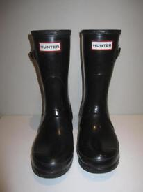 Hunter wellies BLACK Size 4