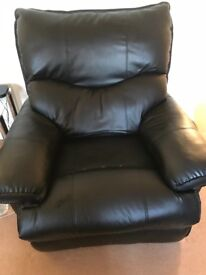 Black Recliner Leather Armchair