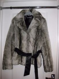 LADIES DESIGNER FAUX FUR JACKET