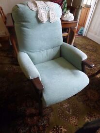 HIGH SEAT CHAIR GOOD QUALITY GREEN