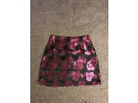 Mini metallic rose skirt
