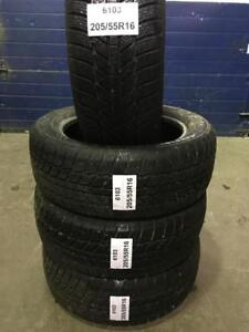 4 PNEUS D HIVER USAGES 205/55R16  4 WINTER TIRE USED 205/55R16  2055516  EFFIPLUS EPLUTO 1 94 H-  (40$ CHAQUES)