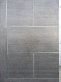 Marble effect vinyl floor tiles
