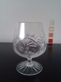 28 Cut glass glasses - ideal for Xmas.