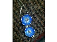 Nicole Barr blue diamond necklace
