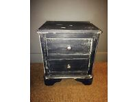 Handy two drawer bedside table