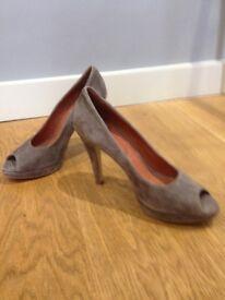 Ladies Peeptoe Mink Shoes