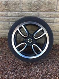 "17"" Mini JCW (John Cooper Works) wheel and tyre."