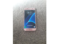 SAMSUNG S7 32GB ROSE GOLD COLOUR OPEN TO ALL NETWORKS EXCELLENT CONDITION £180