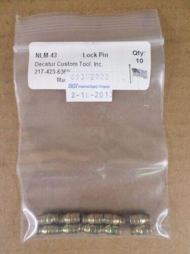 Lot of 10 Decatur Custom Tool, Inc. NLM-43 Lock Pins