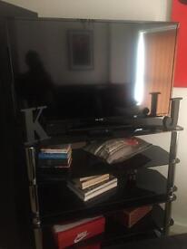 42 inch flatscreen Brand new &3ft black glass stand