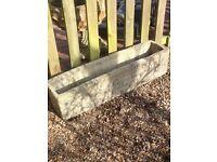 Xlarge wall effect solid stone trough