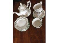 Eternal Beau cups, saucers, plates and Tea pot. Excellent condition.
