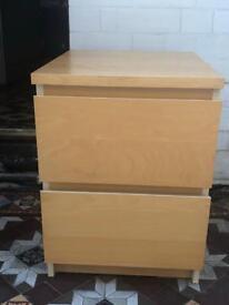 Ikea malm bedside cabinet