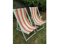 4 Vintage deck chairs - Refurbished