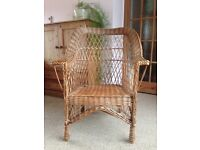 Genuine wicker chair