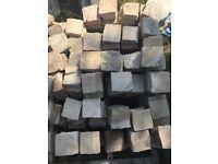 Sandstone cobbles / setts fossil mint X 200