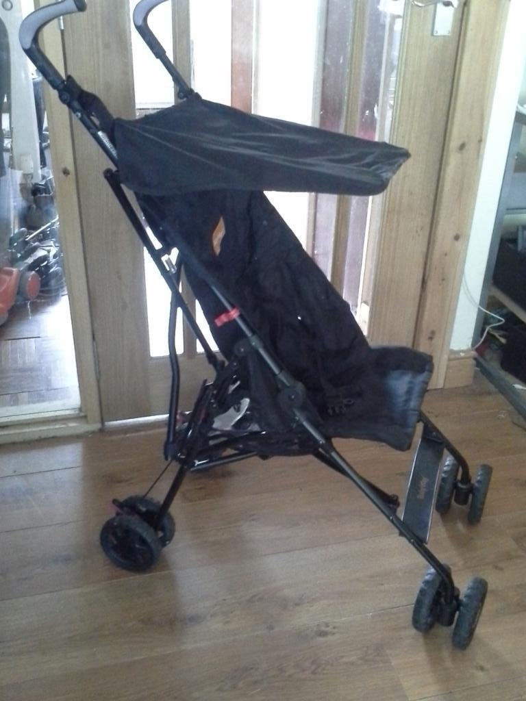 Black Baby Buggy Pushchair With Canopy And Raincover In Corstorphine