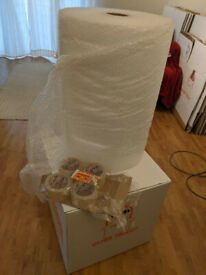 Packing Boxes, Bubble Wrap and Packing Tape