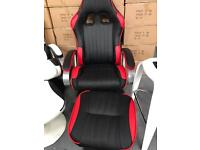 1 x Racer chair in red, brand new.