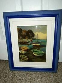 Stunning Boats Picture 15.5 x 13.5 inches