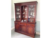 Can deliver! Large Reproduction Mahogany Sideboard/display cabinet in excellent condition (see pic)