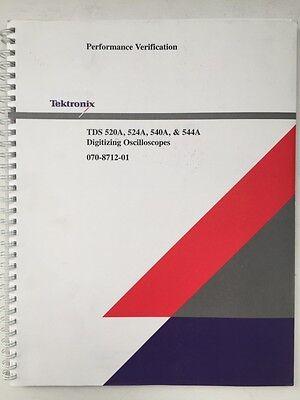 Tektronix Tds 520a 524a 540a 544a Performance Verification Pn 070-8712-01
