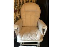 Glider chair and foot stool