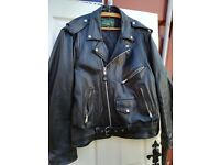 XL Mens Leather Quilted Jacket