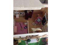 Vintage handmade dolls house- £70