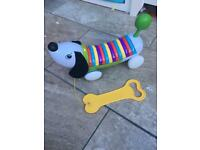 Leapfrog alphapup pull along dog child toy