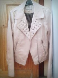 Brand New Light Pink Leather Jacket, purchased for £40 selling half price for £20