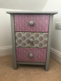 Upcycled bedside drawers