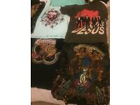 Authentic Christian audigier, Ed hardy and Elvis Jesus tops size L