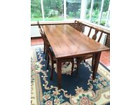 Fabulous French dining table, solid cherry wood