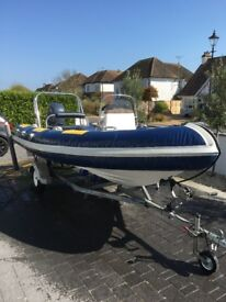 RIB SPEED BOAT 4.55 WITH YAMAHA FT50 ENGINE AND TRAILER